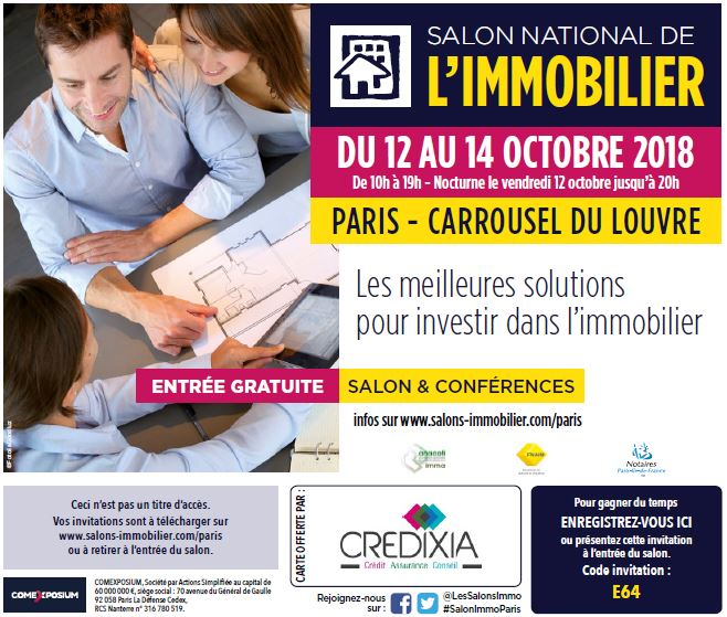 invitation credixia salon national immobilier louvre