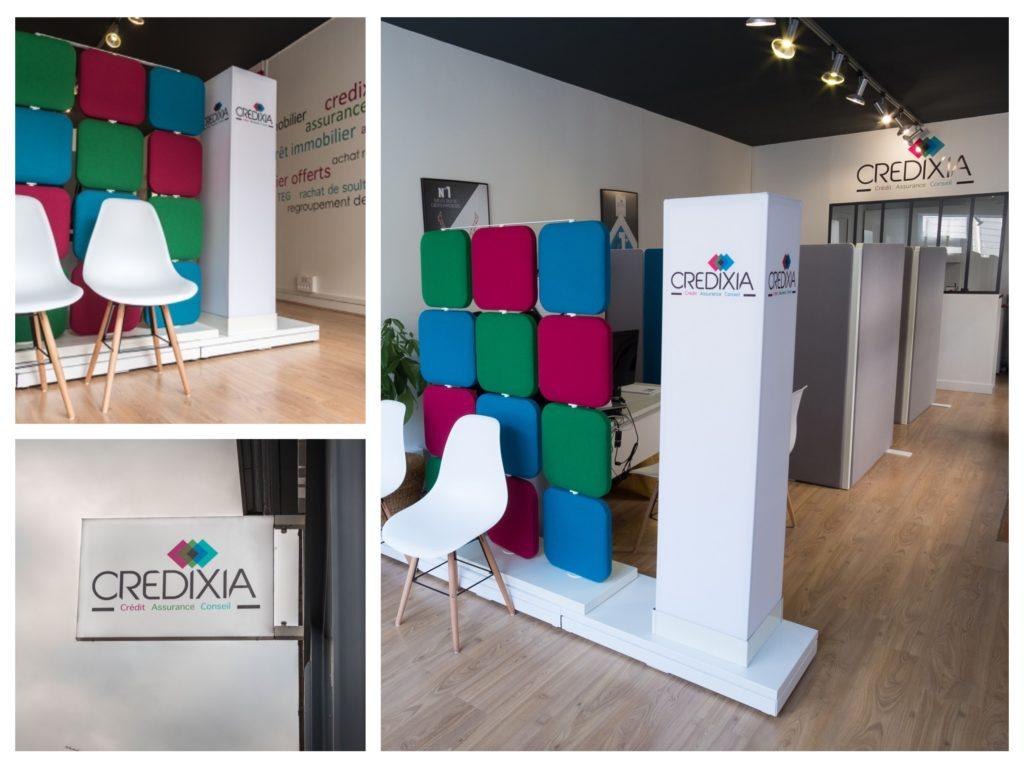 3 photos de l'intérieur de l'agence Credixia Versailles