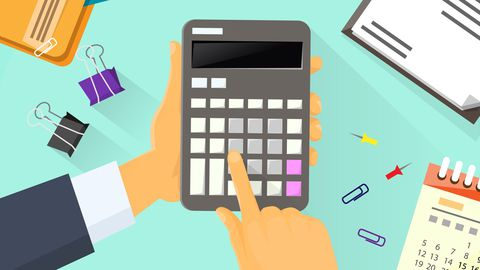 image d'une calculatrice - calculer le taux d'assurance emprunteur
