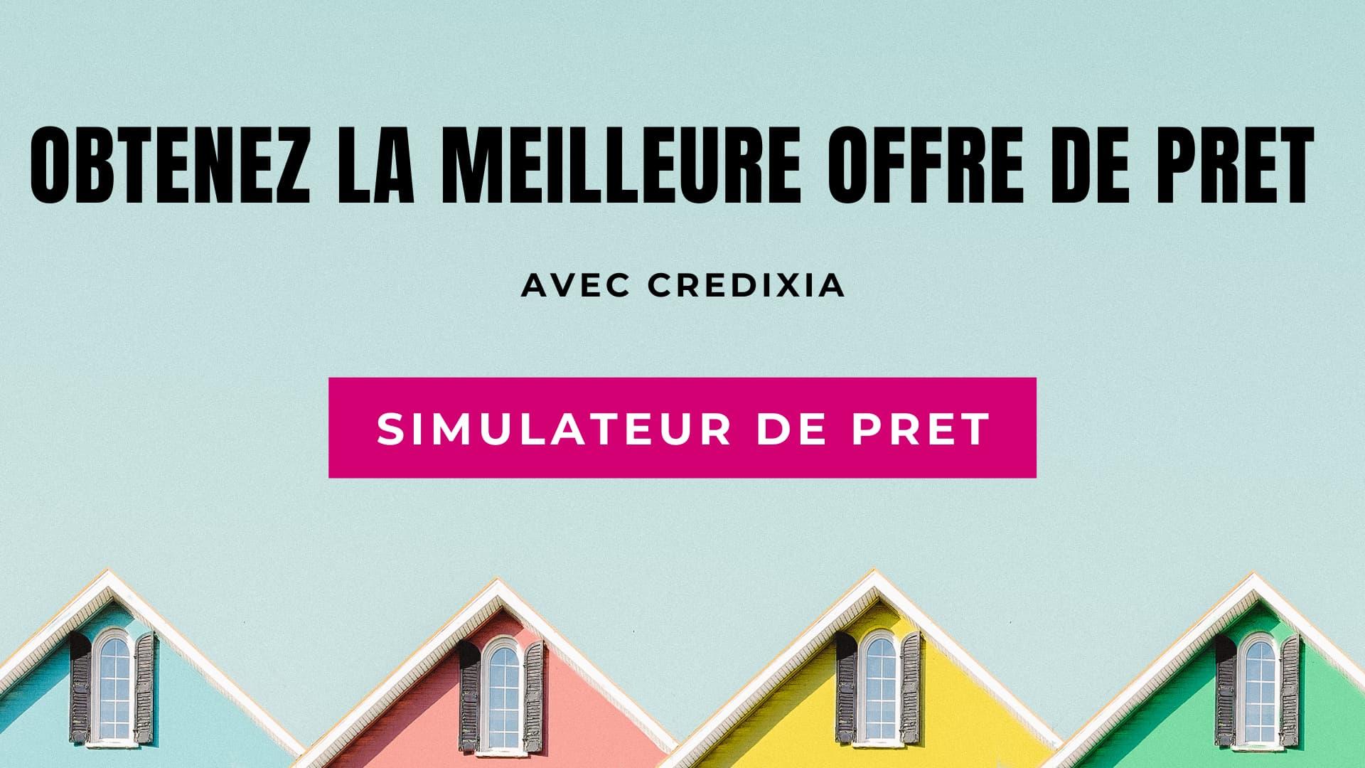 Bouton simulateur de demande de prêt
